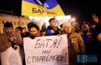 На Михайловской площади собралось 20-40 тысяч человек