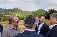 Порошенко відвідав лінію окупації Південної Осетії Росією