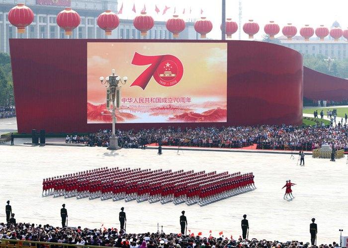 Военный парад на площади Тяньаньмэнь в Пекине, Китай, 1 октября 2019.