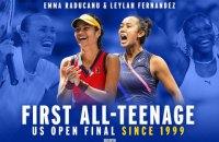 """Фіналістки US Open-2021 встановили каскад рекордів турнірів """"Великого шолома"""""""