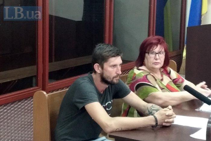 Бібік і його адвокат Наталія Моїсеєнко