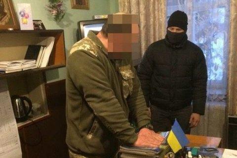 На Волині за хабарництво затримали начальника полігону військової частини