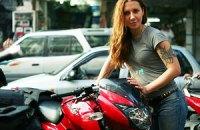 Украинка совершит кругосветное путешествие на мотоцикле