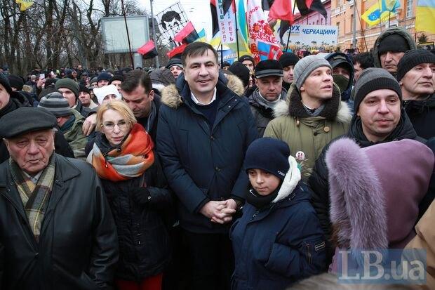 Михаил Саакашвили на Марше 4 февраля