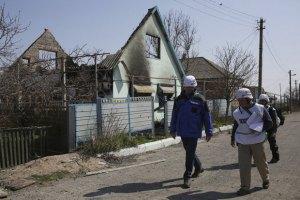 Місія ОБСЄ виїхала з Широкиного через відновлення боїв