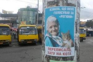 Милиция наказала агитаторов за листовки с бабушкой и котом