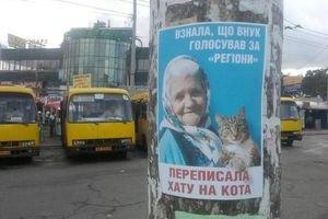 """Міліція розшукує автора бігборда """"бабусі з котом"""""""