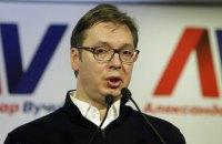 В Сербии тысячи людей вышли на улицы против избрания Вучича президентом