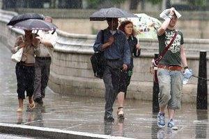 В воскресенье в Украине - дожди
