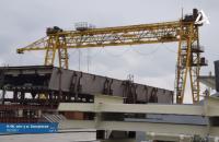 """На Запорізькому мості у рамках """"Великого будівництва"""" збирають третю секцію вантового мосту"""
