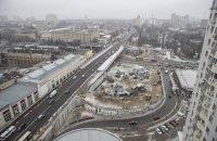 На Шулявском мосту сооружают съезды