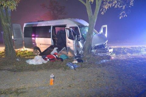 В Венгрии разбился микроавтобус с украинцами: 10 пострадавших