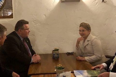 Тимошенко встретилась в Мюнхене с главой МИД Литвы