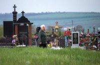 В Ровно пенсионерка пыталась пробраться на закрытое кладбище и застряла на заборе