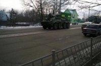 По Симферополю проехала колонна российской военной техники