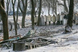 На улице Грушевского в Киеве продолжается перемирие