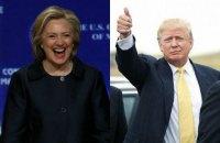 Клинтон побеждает Трампа по количеству проголосовавших за нее рядовых американцев