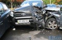 В Киеве случилось ДТП с участием шести автомобилей