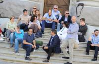 """""""Самопомощь"""" провела заседание фракции возле объявившего голодовку Березюка под АП"""