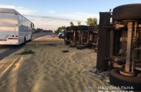 На трассе Киев-Одесса столкнулись два зерновоза, три человека погиби