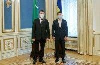 Зеленський прийняв вірчі грамоти у послів Туркменістану, Палестини, Португалії та Азербайджану