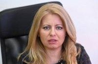 Президент Словаччини пішла на карантин