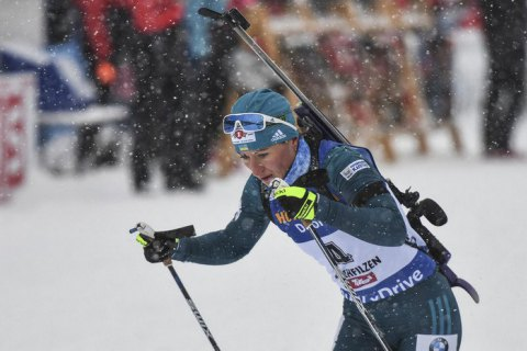 Биатлонистка Вита Семеренко взяла бронзу на этапе Кубка мира в Оберхофе