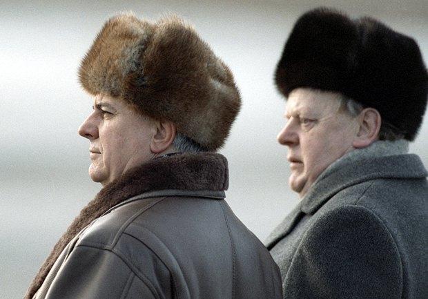 Леонид Кравчук и Станислав Шушкевич