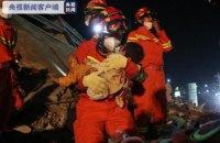 Число загиблих унаслідок обвалу карантинного центру в Китаї зросло до 10