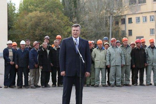 Янукович на Херсонском судостроительном заводе
