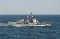 Американский эсминец приблизился к спорным островам, несмотря на протест Китая