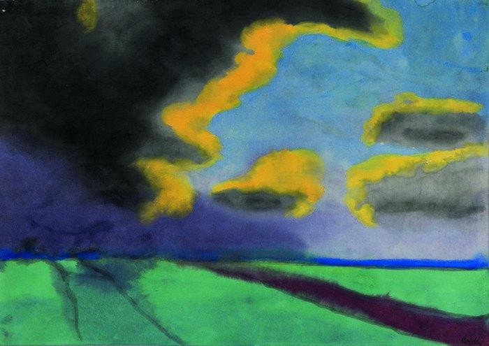 """Еміль Нольде, """"Широкий пейзаж з хмарами"""", дата невідоима"""