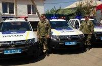 Полицейские патрулируют демилитаризованную зону у Станицы Луганской