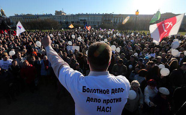 Во время митинга 6 мая в Санкт-Петербурге, проходившего параллельно с московским