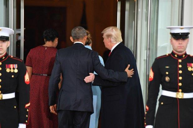 Чета Обама встретила Трампов