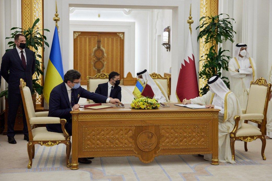 Підписання угод між Україною і Катаром