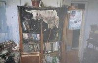 В киевской школе на Троещине сгорел шкаф