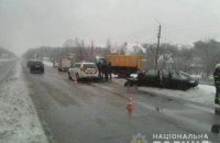 У Київській області в ДТП через слизьку дорогу загинули троє людей, ще двоє поранені