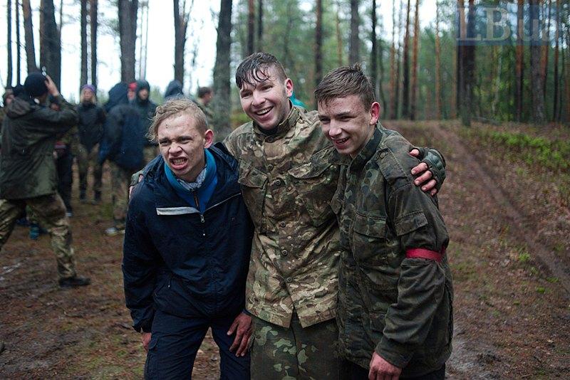*Вовки* (зліва направо): Володя, Назар і Станіслав