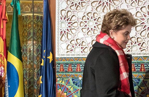 Бывший президент Бразилии Дилма Русеф, Португалия, 16 марта 2017.