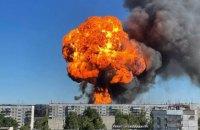 В Новосибирске взорвалась АЗС