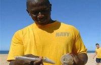 На Гавайях моряк нашел приплывшее из Японии письмо в бутылке