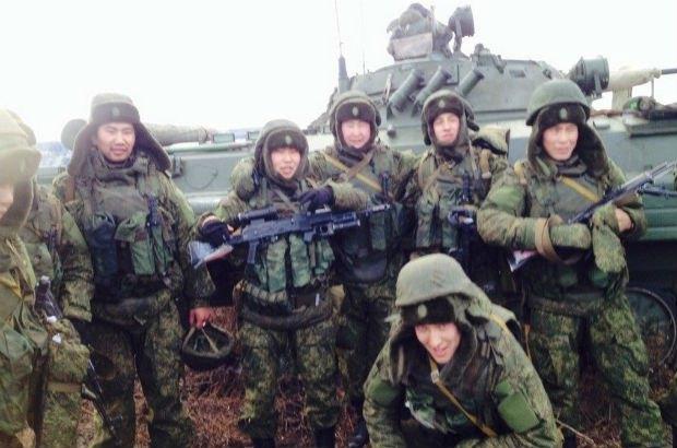 Россияне на границе с Украиной в Ростовской области