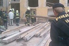 В центре Праги рухнул дом