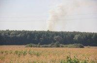 Возле арсенала в Калиновке произошел пожар (обновлено)