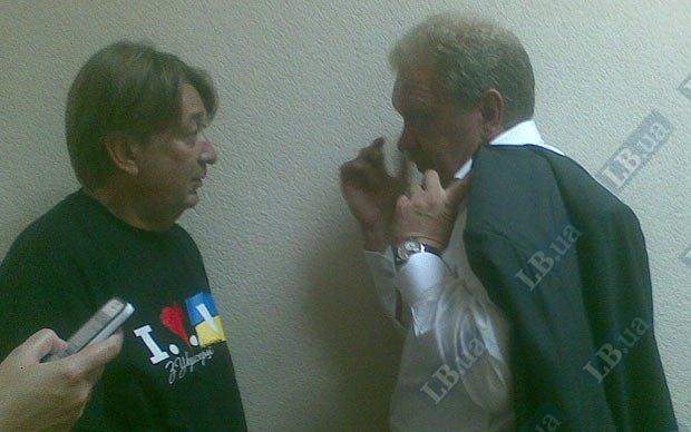 Олег Дубина(справа)