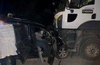 На Дніпропетровщині зіткнулися легковик та вантажний самоскид, загинуло четверо осіб
