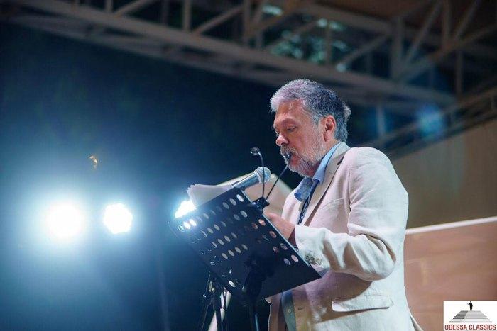 Михаил Шишкин во время выступления на фестивале Odessa Classics, 8 июня 2021 г