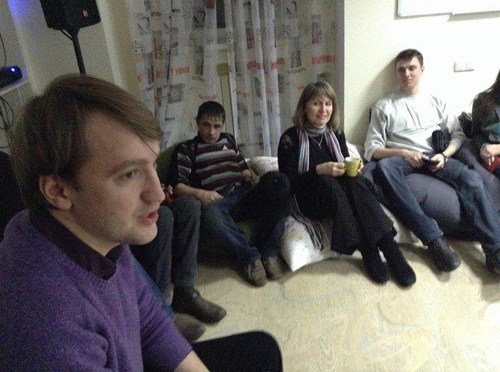 Зустріч з Олександром Солонтаєм в кафе до нападу