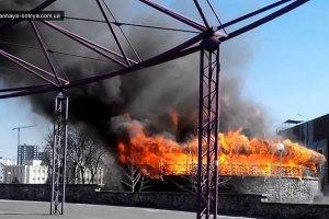На Троещине сгорел ресторан